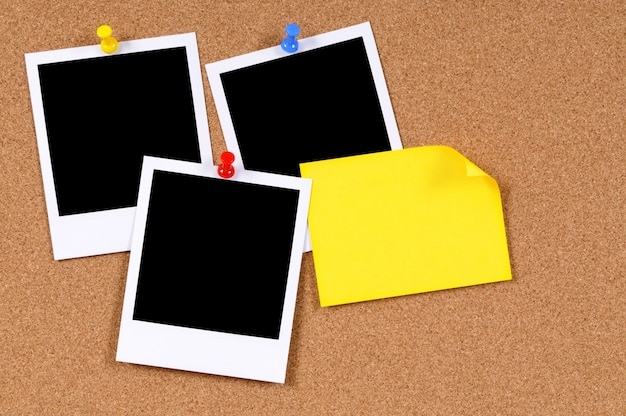 Instant photos with sticky note