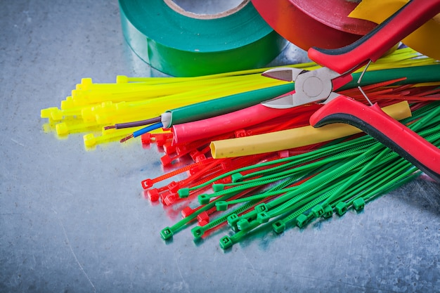 Insulating tapes plastic cable ties electric wires nippers