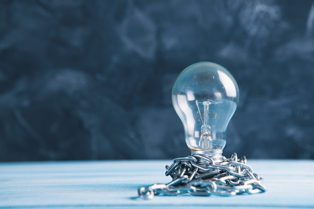 Intellectual property. light bulb with chain