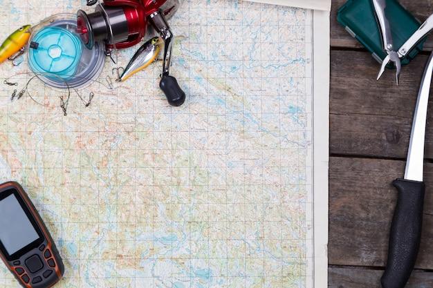 マップ上の釣り道具とナビゲーターを対象としています