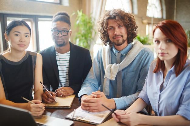 Intercultural business team