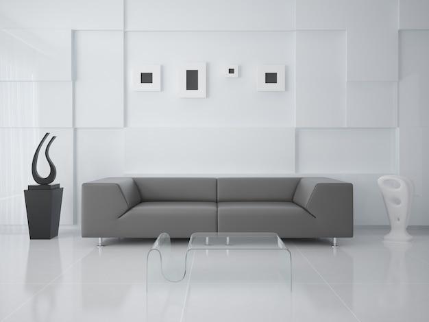 Interer modern living in a hi-tech style