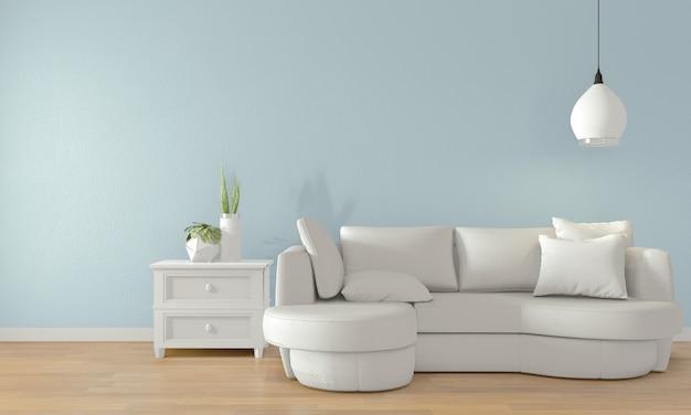 モダンな部屋interior.3dレンダリングに白いソファと空の部屋