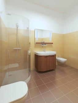 Interior bathroom in contemporary style