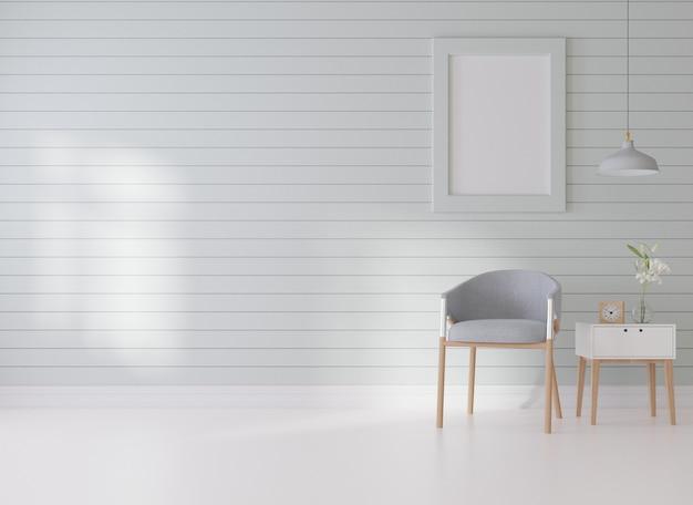 Интерьерная пустая рамка для плаката в гостиной