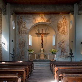 Interior of a church, san cristobal hill, santiago, santiago metropolitan region, chile
