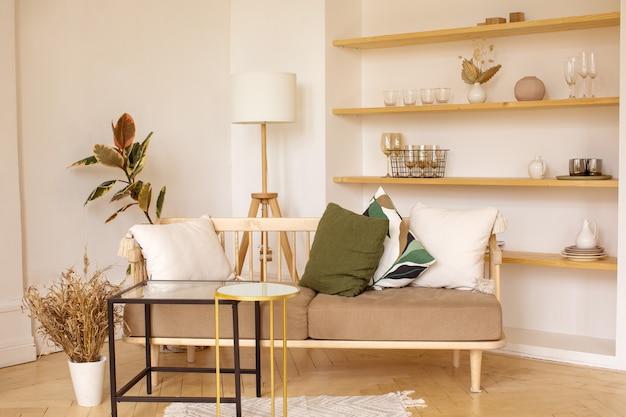 Interior of cozy living room