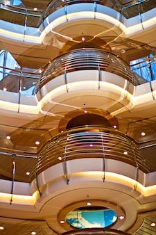 Interior of the cruise ship