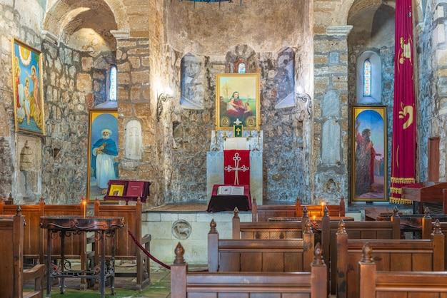 Interior decoration of the armenian gregorian church