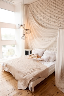 Interior decoration of a bedroom