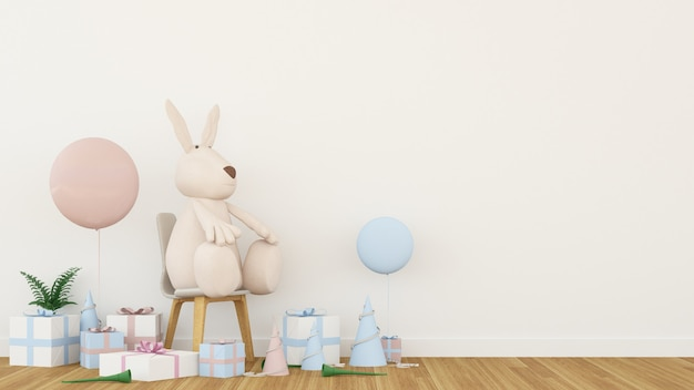 The interior decoration gift space in festival - 3d rendering