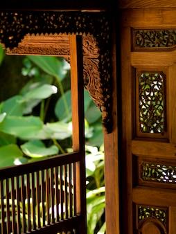 Interior decorative wall in Bali