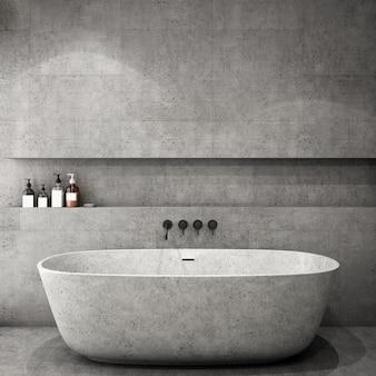 Interior design for bathroom area in modern style