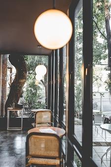 Interior design of a beautiful cafe