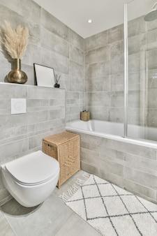 Interior design of beautiful and elegant bathroom
