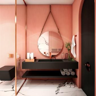 Дизайн интерьера для зоны ванной в современном стиле