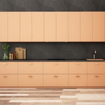 현대적인 스타일의 주방 공간 인테리어 디자인