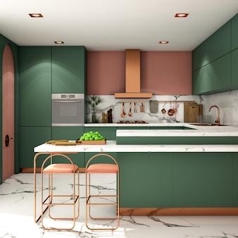 Дизайн интерьера кухонной зоны в современном стиле