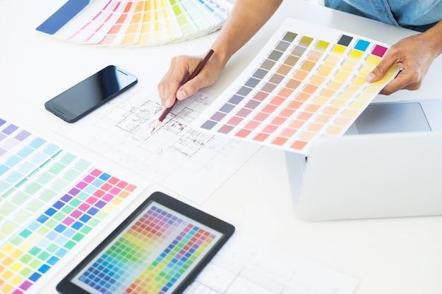 Interior design or graphic designer renovation