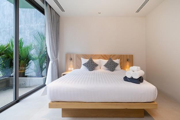 Interior design of a hotel room