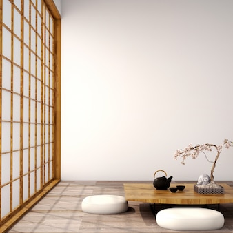 Interior design for living area in japanese style