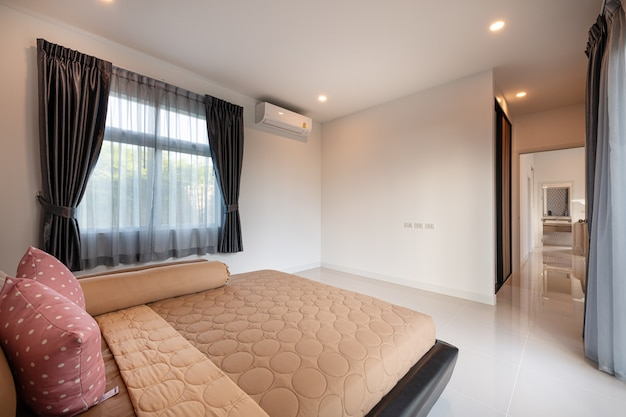 Interior design modern bedroom of a new home