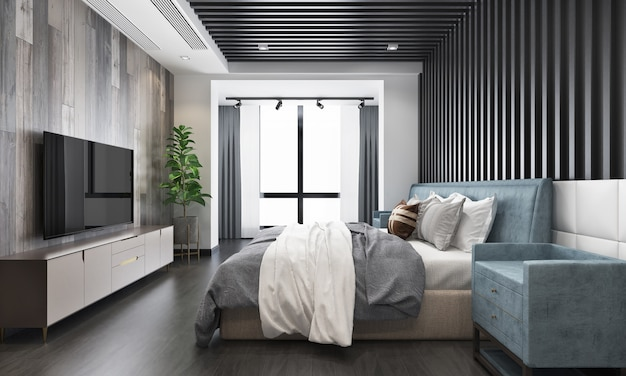 Interior design modern bedroom