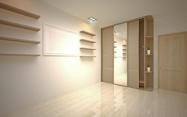 인테리어 디자인. 현대 빈 거실