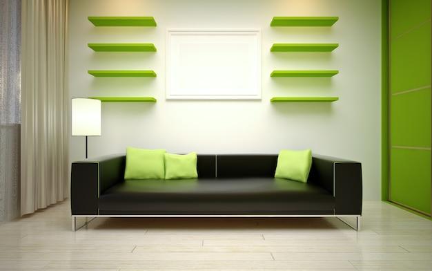 인테리어 디자인. 현대 거실