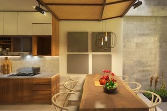Interior design of a white minimalist bedroom