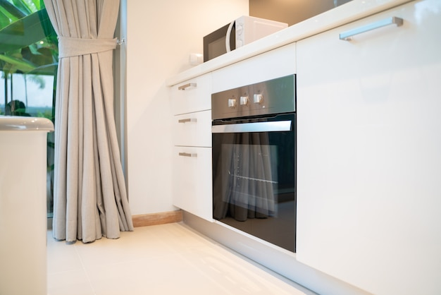 Interior design oven in the house