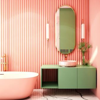 Interior design for restroom in contemporary style