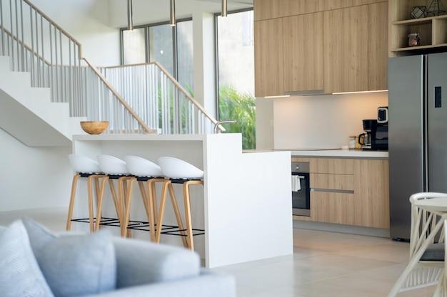 Interior design of a villa dinning room