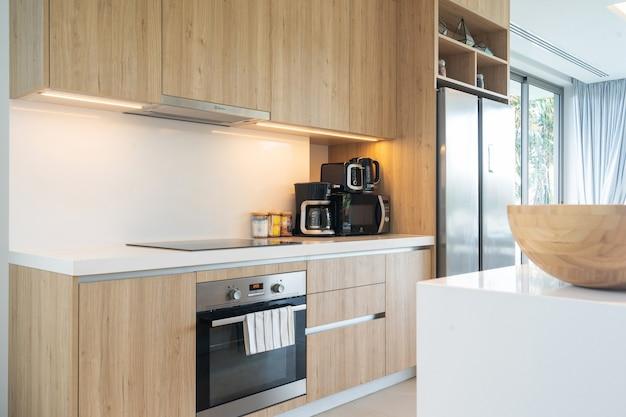 Interior design of a villa kitchen
