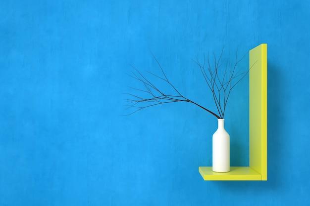 인테리어 디자인 벽지. 3d 렌더링.