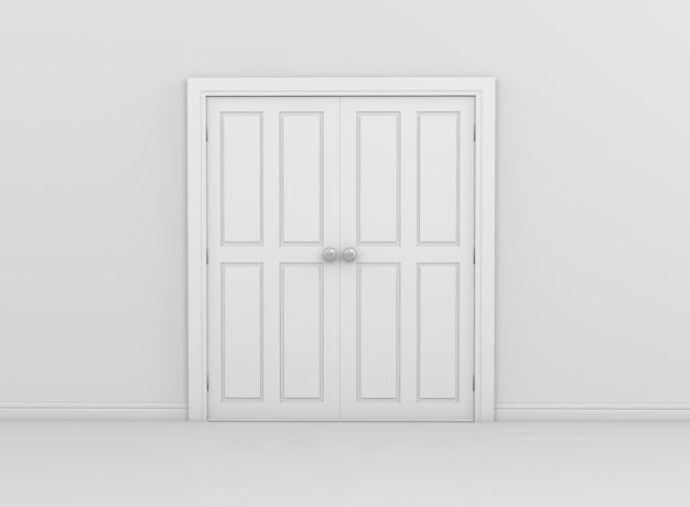 Interior door on wall