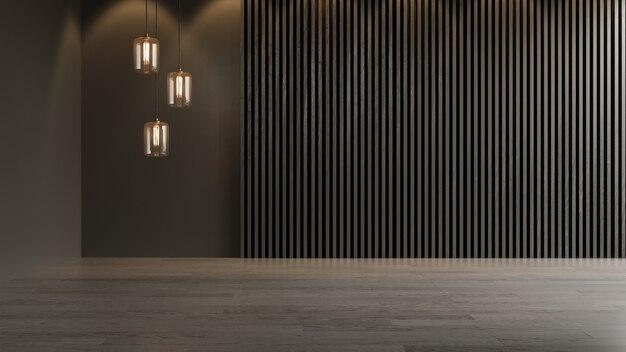 Interior empty room 3 d rendering