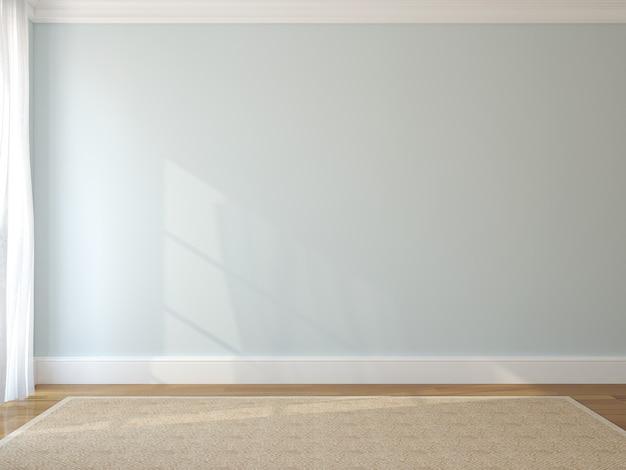 Interior of empty room. 3d render.