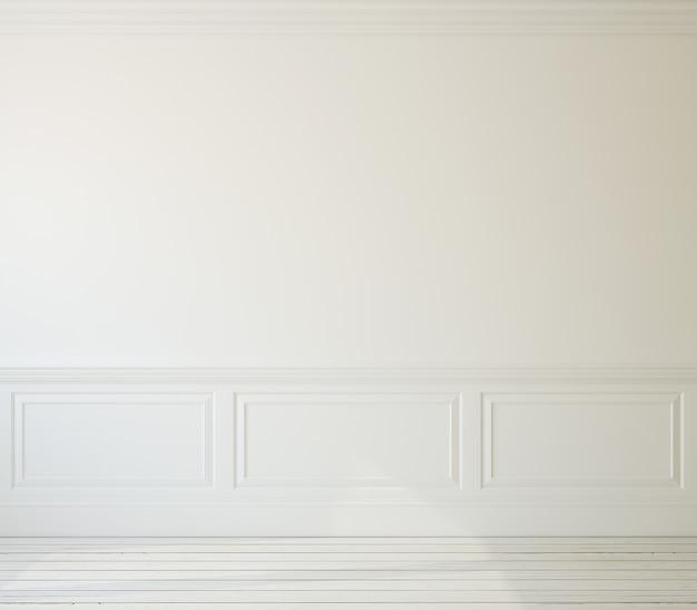 내부. 빈 흰색 방. 3d 렌더링.