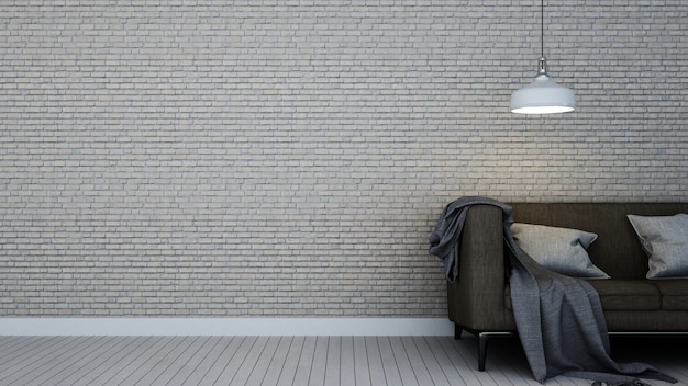 The interior furniture living space wall decoratio background and empty space