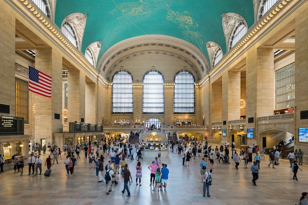 Interior of grand central station in new york city, ny.