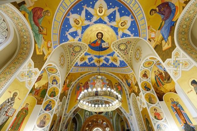 Interior of the greek catholic church of the holy trinity