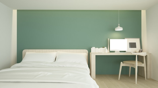 The interior living minimal  in apartment and background style  3d rendering
