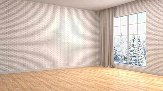 Interior living room 3d illustration