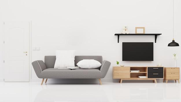 Interior  living room.  rendering.