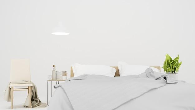 호텔의 최소한의 침실 공간