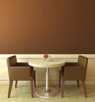 Interior of modern coffee house. 3d render.