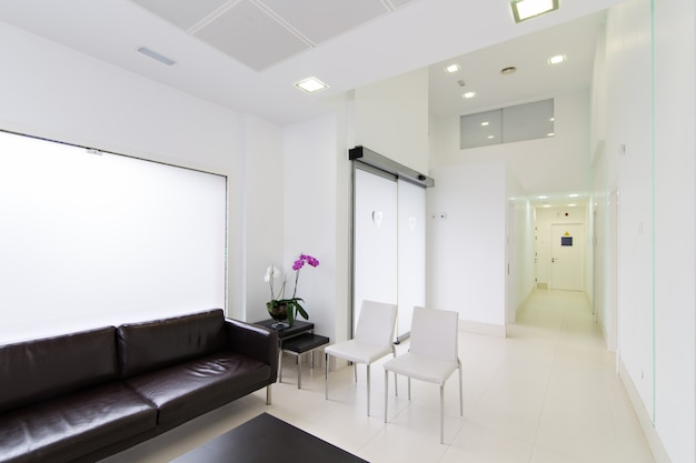 Interior modern reception of dental clinic