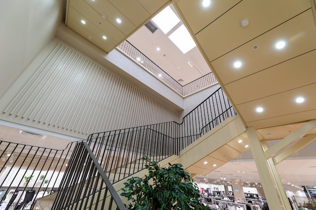 Interior in a modern shopping center