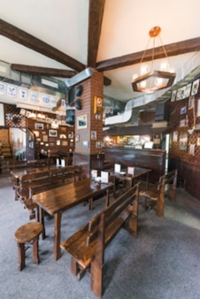 Interior of nice bar